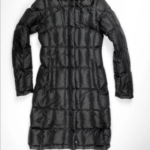 North face knee length puffer jacket coat xs